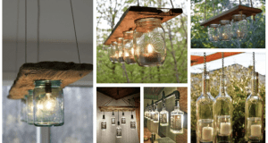 Inspirace na originální osvětlení! Využijte zavařovací sklenice a také lahve