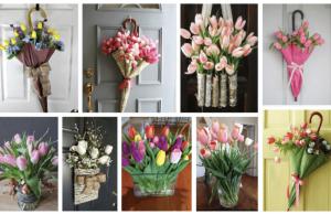 20+ tulipánových dekorací