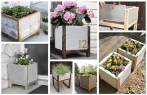dřevo-betonové květináče