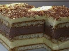 Recept na nepečenou buchtu s vanilkovým krémem
