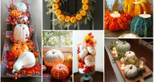 Skvělé nápady, jak využít mini dýně a tykve k dekoračním účelům na podzim