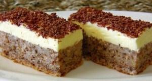 Recept na ořechový dezert s vanilkovým krémem