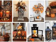 Podzimní dekorace z lucerničky