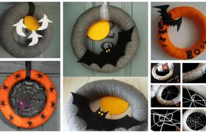 skvělá zábava pro děti! vyrobte si halloweenský věnec na dveře