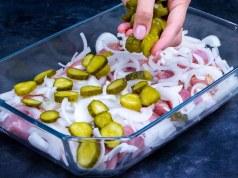skvělý tip na nedělní oběd – obložené vepřové maso z jedné mísy