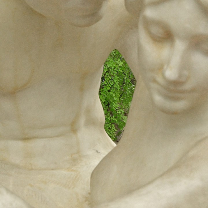 Alabaster couple in Garfield Park Conservatory