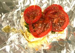 Baked Feta with Tomato and Pepper Bouyiourdi - Primal Mediterranean Gourmet