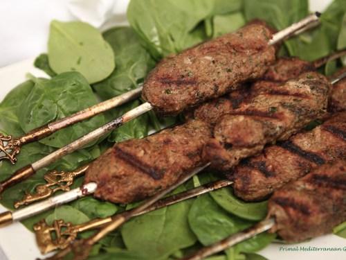 Moroccan Lamb Kofta grilled - Primal Mediterranean Gourmet