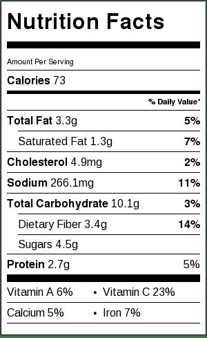 Green Beans Amandine - Nutrition Information