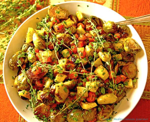 Roasted Brussel Sprouts with Carrots and Parsnips