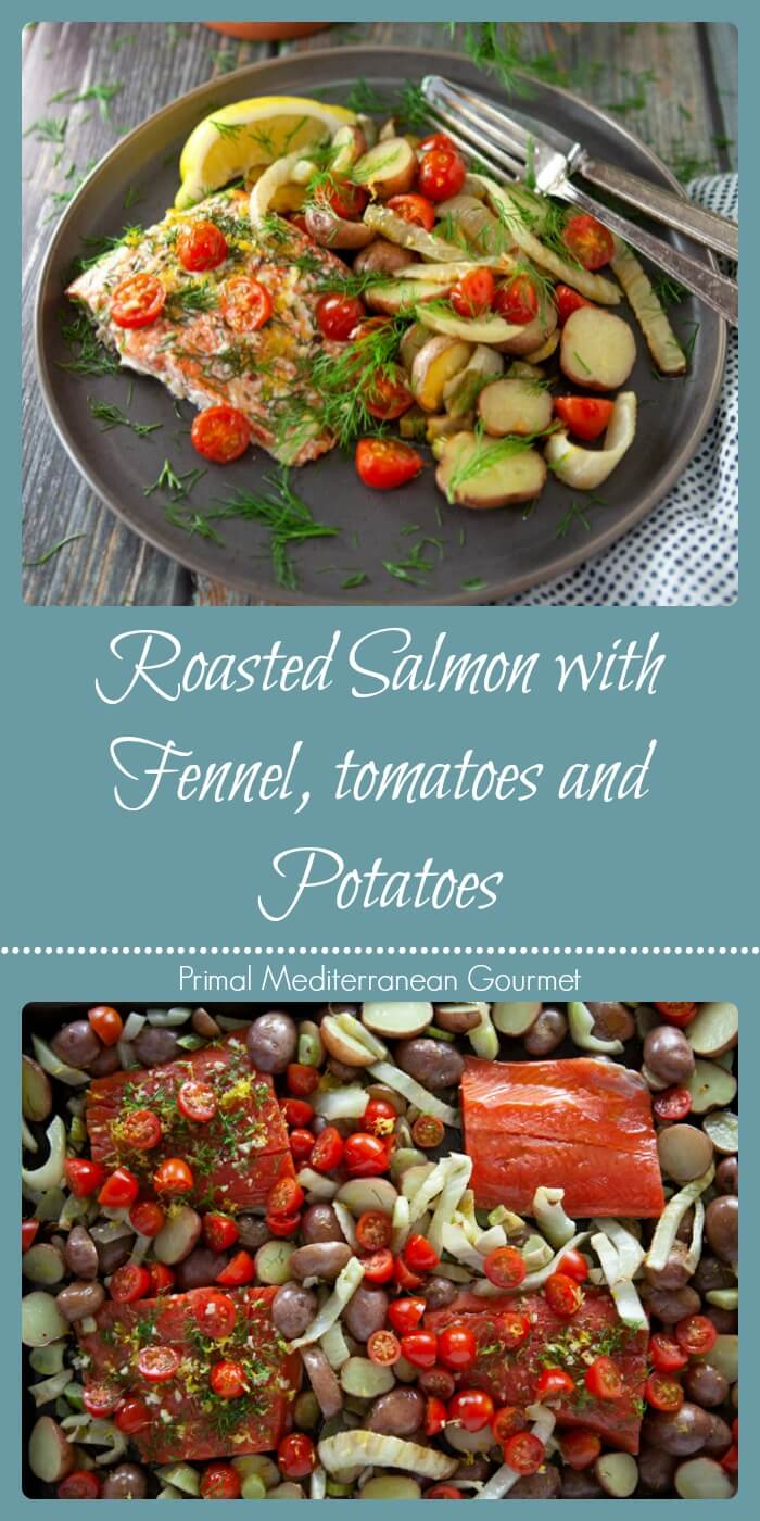 Roasted Salmon with Fennel, Tomatoes, and Potatoes