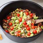 Beefy Nacho Skillet With Onions Peppers Primal Peak