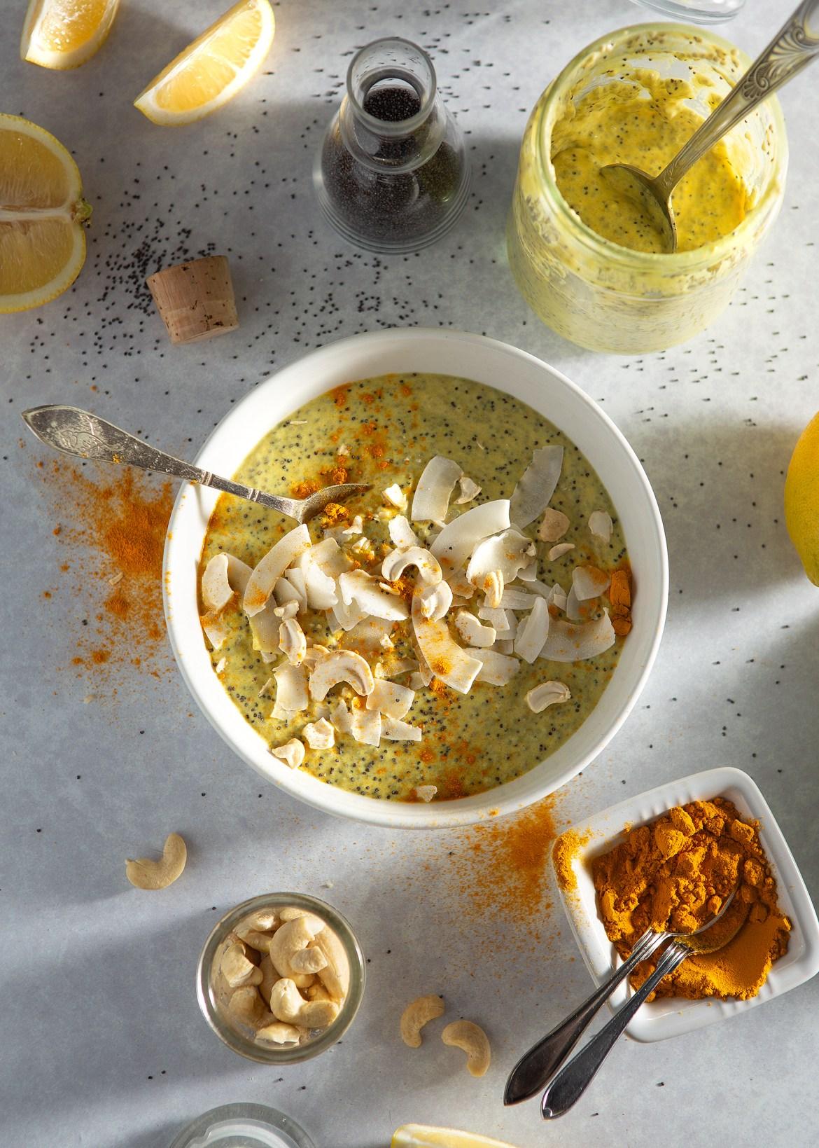 Paleo Lemon Curd Chia Pudding with Poppyseeds