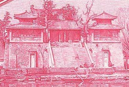 Beiji Temple located at Daming Lake in Jinan