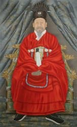 Portrait of King Gojong who became Korea's first emperor (Emperor Gwangmu)