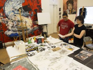 Art student college portfolio program