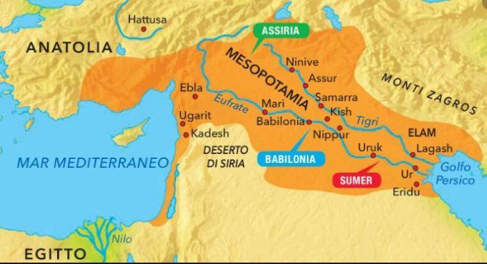 Risultato immagini per Mappa della Mesopotamia antica