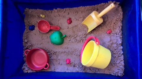 Sand pit: Can you count the hidden bears?