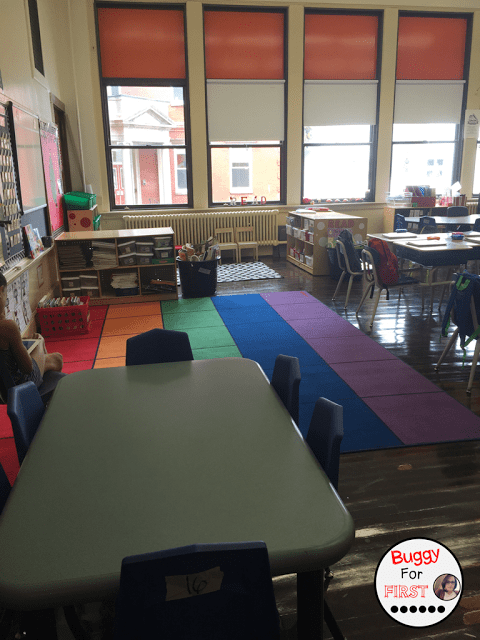 classroom reveal, polka dot classroom, buggyforfirst, polka dots, ladybug classroom, first grade, classroom decor