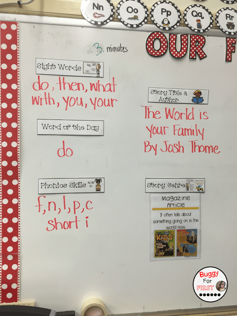 objectives, goals, standards, common core, focus wall, polka dot classroom, buggyforfirst, polka dots, ladybug classroom, first grade, classroom decor, classroom reveal