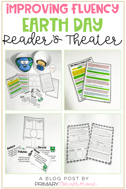 Earth Day activities for kids don't have to be boring. They can be interactive with reader's theater! Students can improve on their prosody and fluency as well as think deeply about vocabulary and comprehension. Perfect activity to implement and integrate social studies and science in the classroom. #readerstheater #earthday