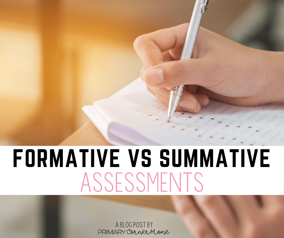 Formative Vs summative assessments. What's the difference and how do I know which one to use?
