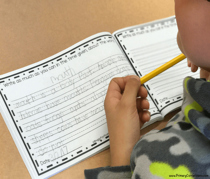 We do power writing all year long because of the power it has to increase student stamina. We have placed such a great emphasis on reading stamina, that we have forgotten how important it is to strengthen it through writing, too.