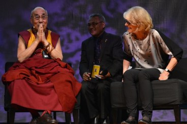 Dr Sue Knight with the Dalai Lama