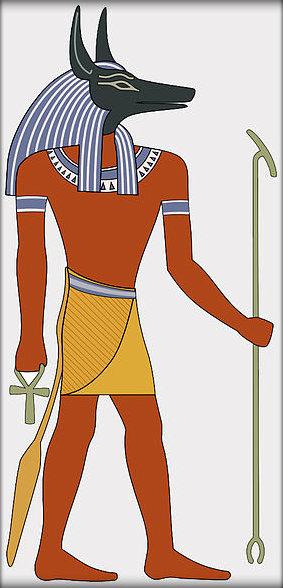 Image result for Egyptian Gods and Goddesses - Anubis