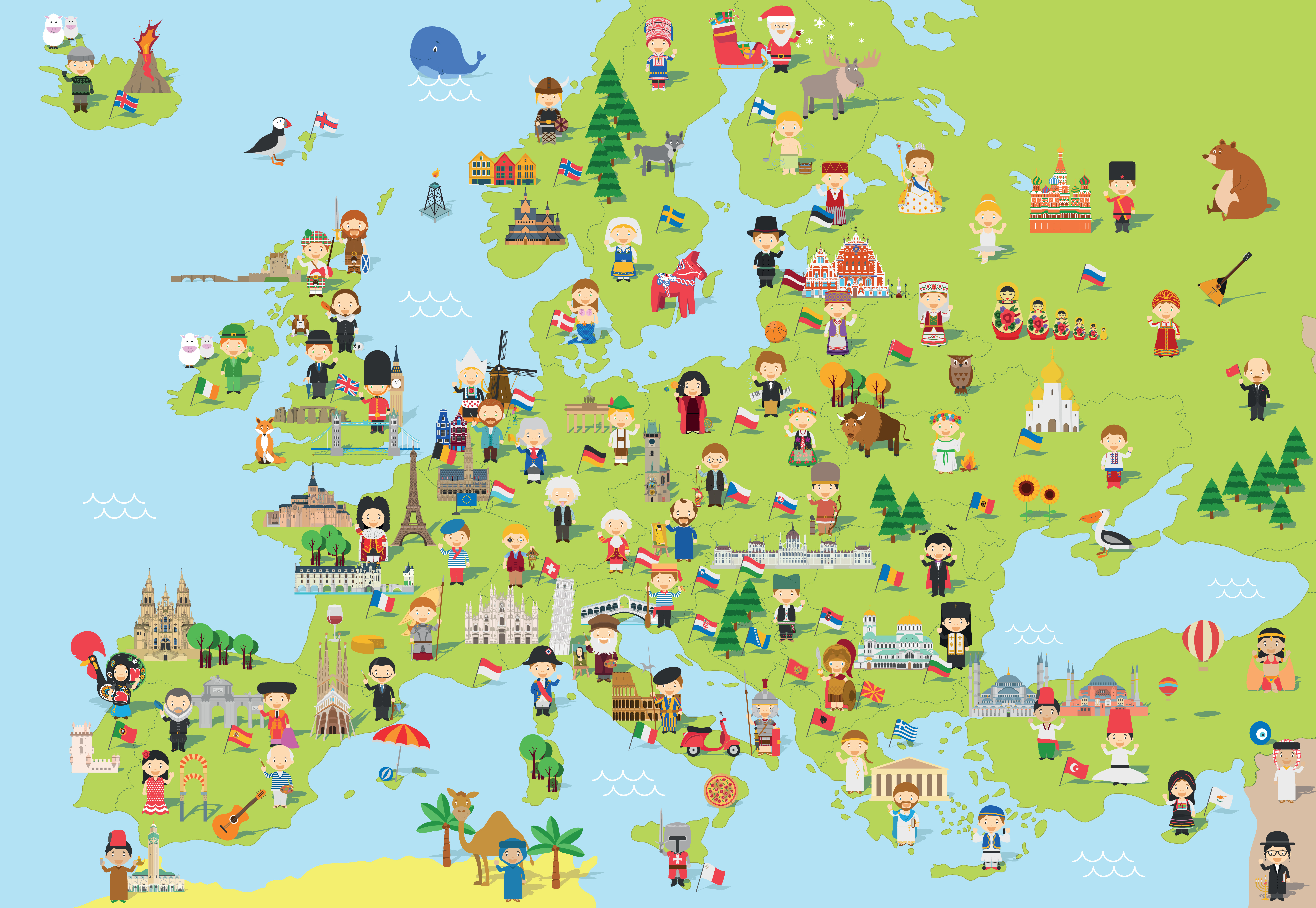Geography Europe Level 1 Activity For Kids