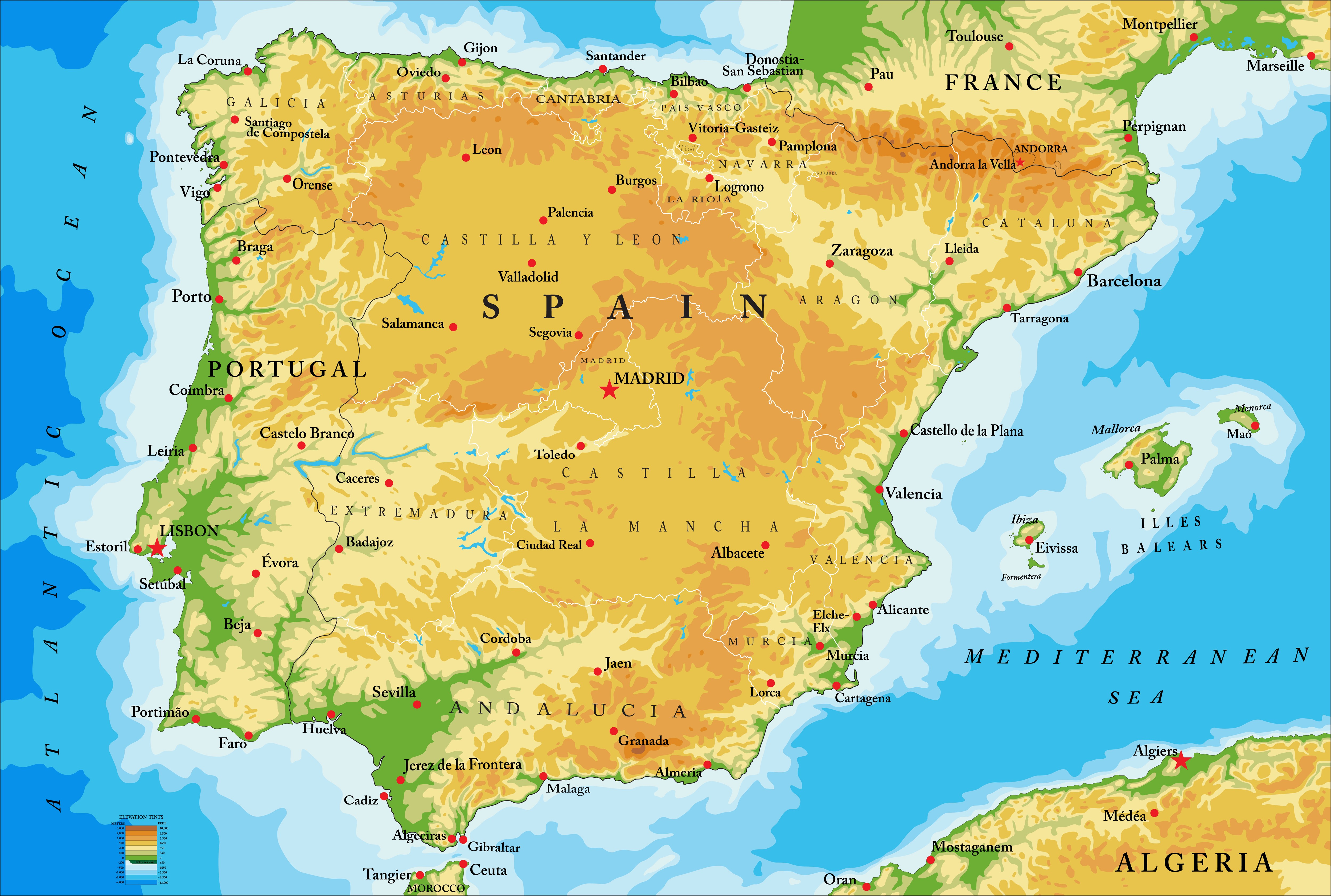 Geography Spain Level 1 Activity For Kids