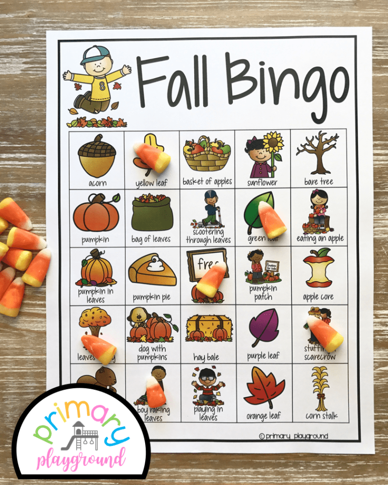 Fall Class Party Ideas - Fall Bingo