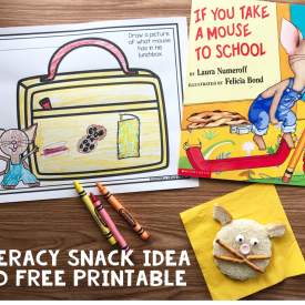 Literacy Snack Idea and Free Printable