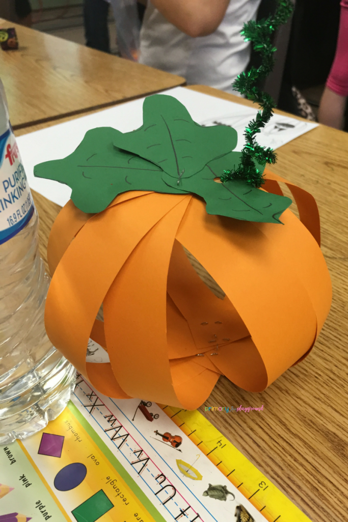 Fall Class Party Ideas -Pumpkin Craft