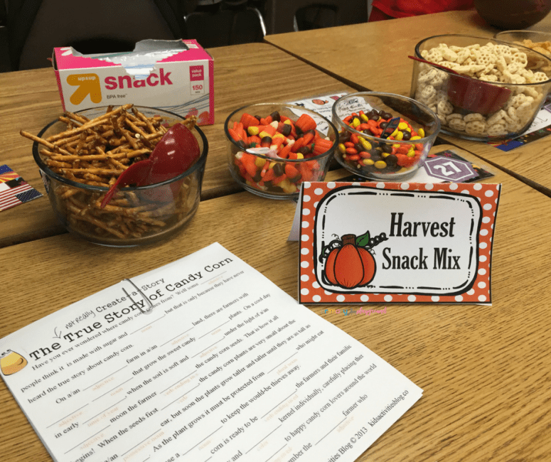 Fall Class Party Ideas 3rd - 6th grade