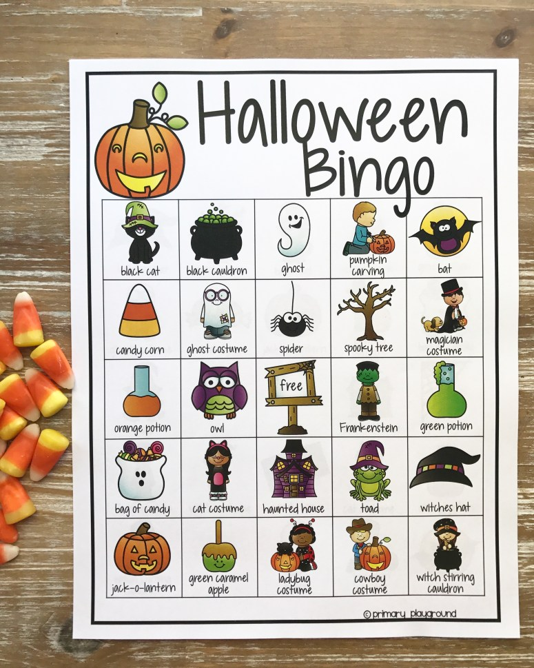Halloween Class Party Ideas Halloween Bingo