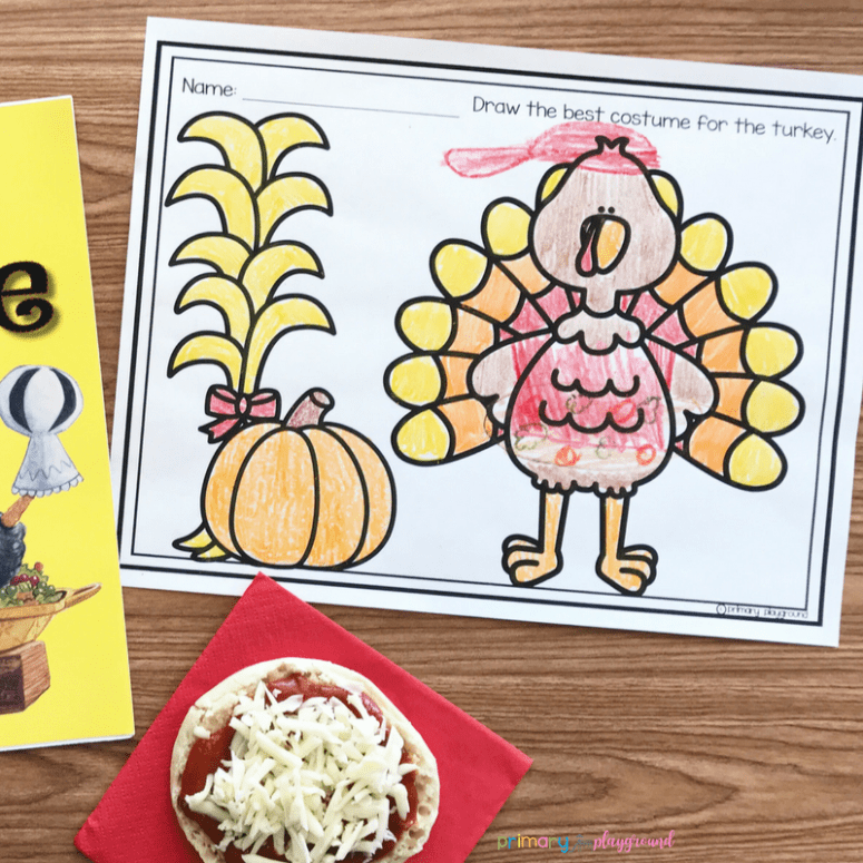 Literacy Snack Idea Turkey Trouble Pizza