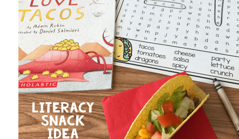 Literacy Snack Idea Dragons + Free Printable