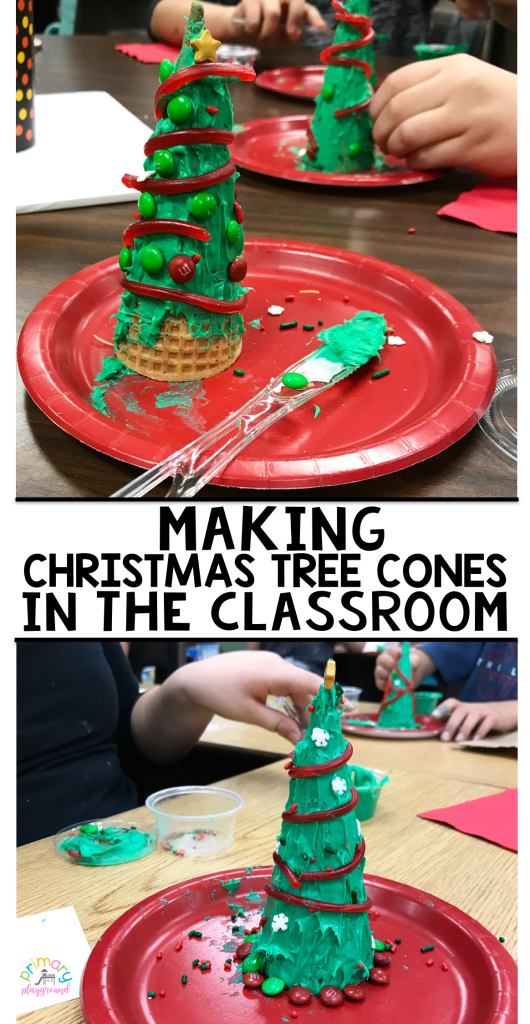Making Christmas Tree Cones In The Classroom