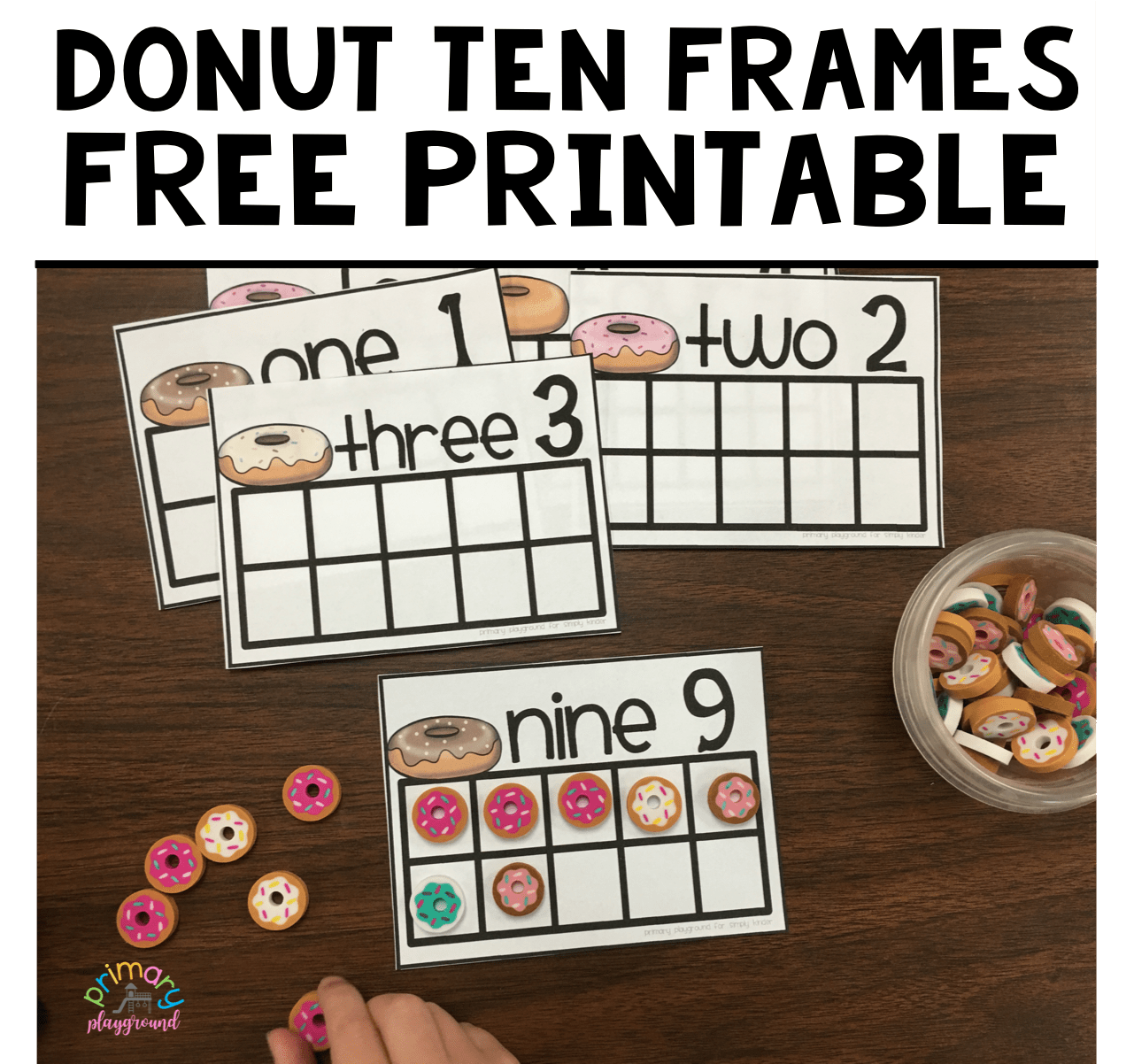 photograph about Free Printable Ten Frames identify Absolutely free Printable Donut 10 Frames - Principal Playground