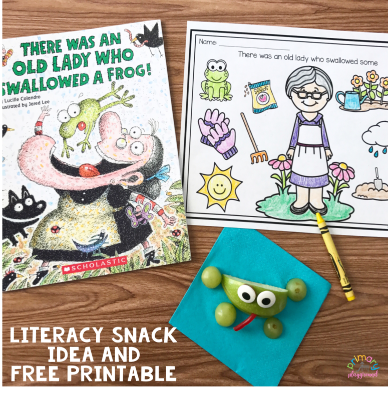 Literacy Snack Idea Frog