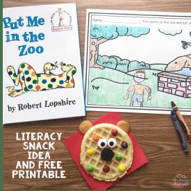 Literacy Snack idea Spots + Free Printable