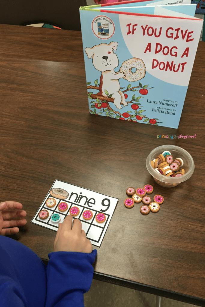 Free Donut Ten Frame Cards