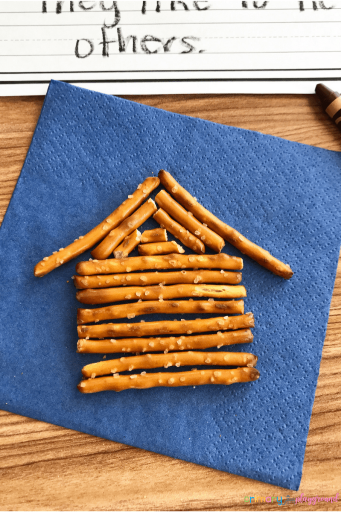 Lincoln Log Cabin Snack Idea