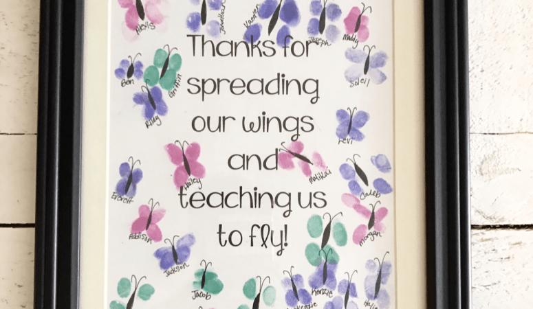Fingerprint Teacher Appreciation Gift Idea