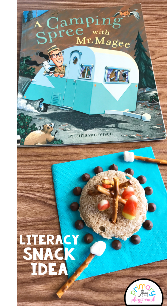 Literacy Snack Idea Camping + Free Printable