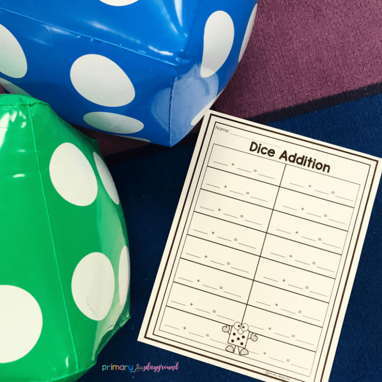 inflatable dice addition game