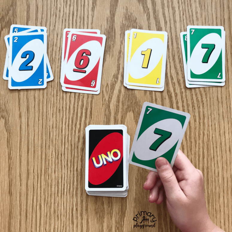 Color Match using UNO cards