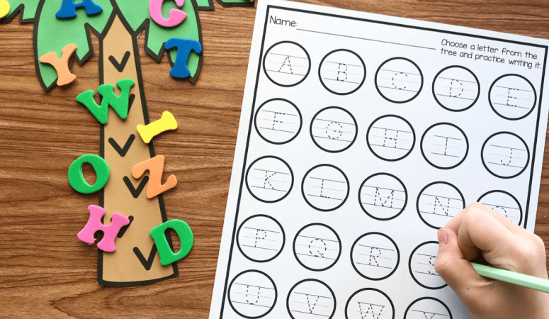Free Printable Alphabet Tree Center
