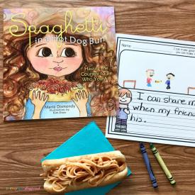 literacy snack idea courage - Spaghetti in a Hot Dog Bun